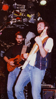 Eric Everett and Mike Albanese perform at CBGB'c in NYC
